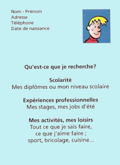 exemple cv apprentissage cuisine